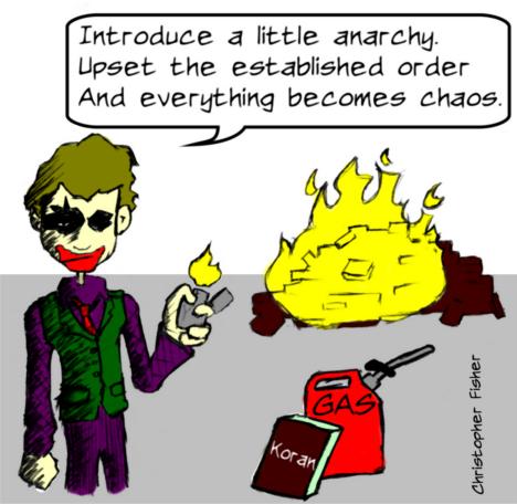 joker burn Korans