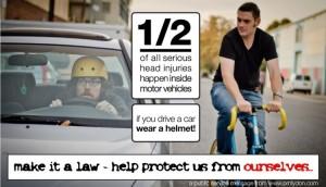 car helmet while driving